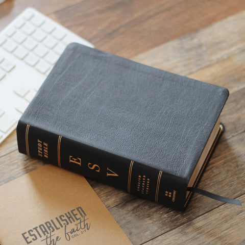 ESV Study Bible - Personal Size - Black Leather