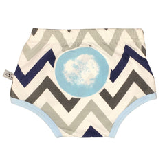 And The Little Dog Laughed Baby Clothes Chevron Blue Nappy Cover Stitch Piece Loop Online Australia
