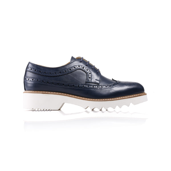 2017 Women's Navy Brogue Wingtip