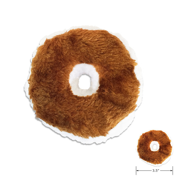 Cute Little Bagel with Cream Cheese Small Dog Toy