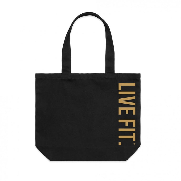 Live Fit Tote Bag - Black / Gold