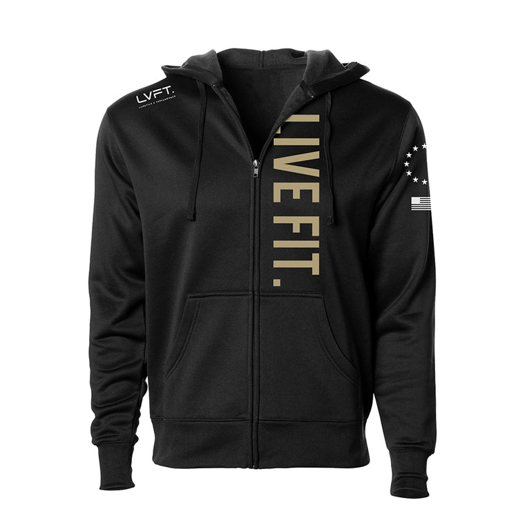 Union Tech Zip Up Hoodie - Black
