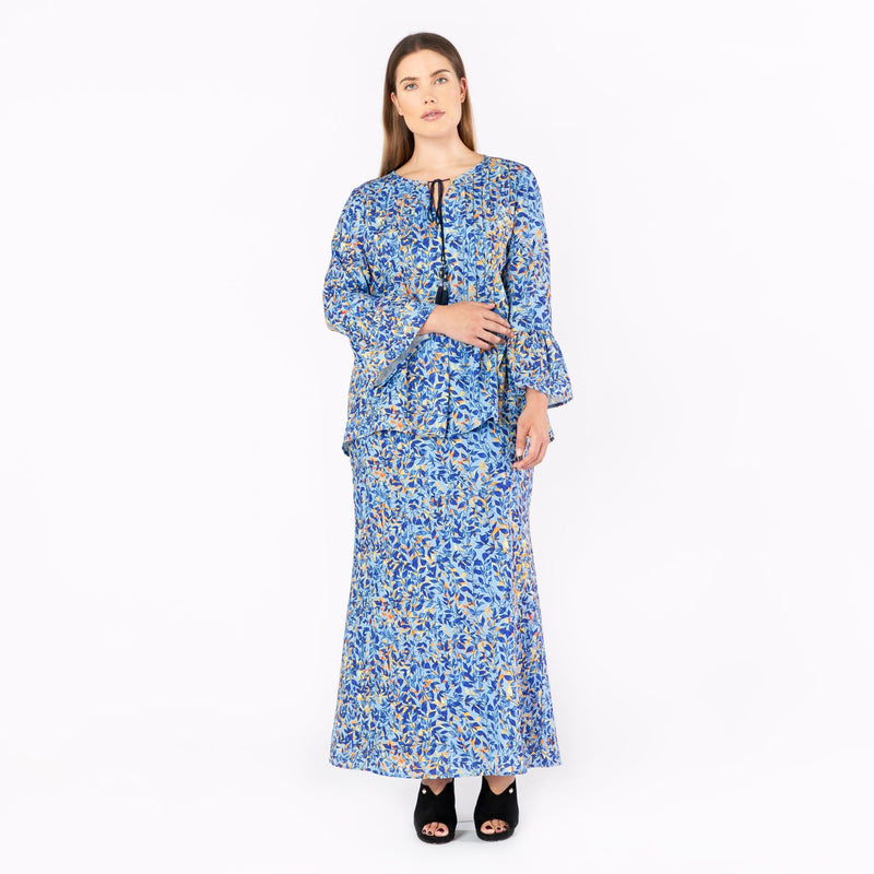 MS. READ | Printed Peasant Top, Raya Collection, Baju Kurung, Fesyen, Baju Raya