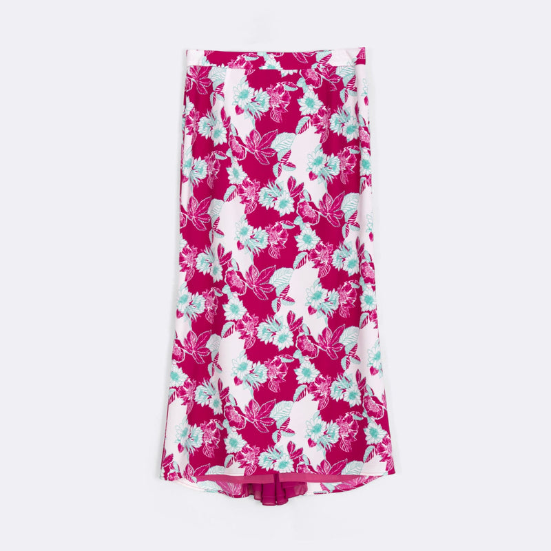 Printed Tiered Godet Skirt