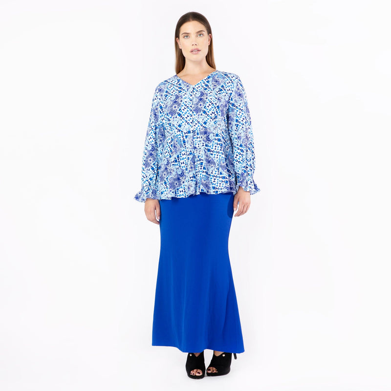 MS. READ | Printed Peplum Top, Raya Collection, Baju Kurung, Fesyen, Baju Raya