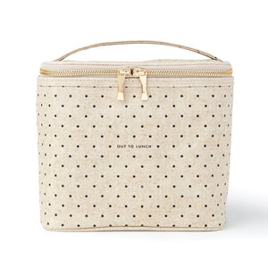 Out to Lunch Tote, Petite Black Dots