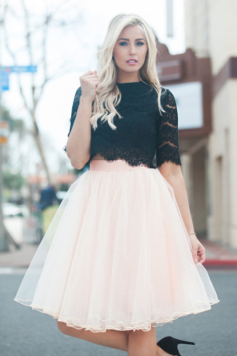 Allure Tulle Skirt - Blush