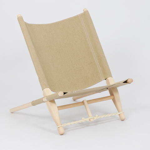 Portable Lounge Chair in Natural, use Inside or Outside/FREE SHIPPING
