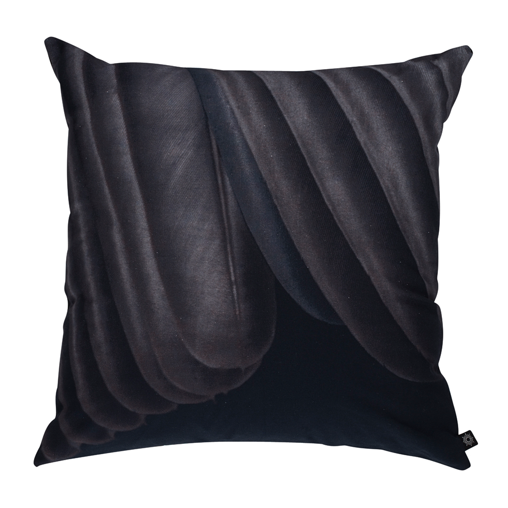 Printed Feather Black Pattern Decorative Pillow