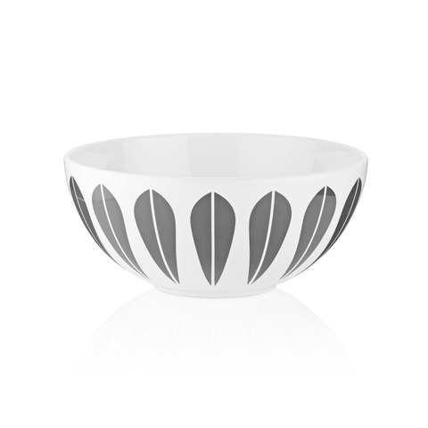 Grey Lotus Ceramic Bowl