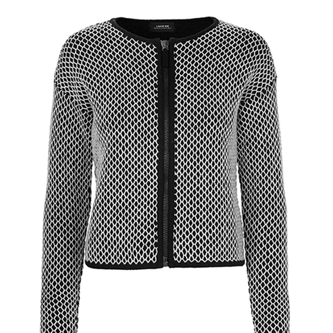 B/W Pattern Cardigan 50% OFF