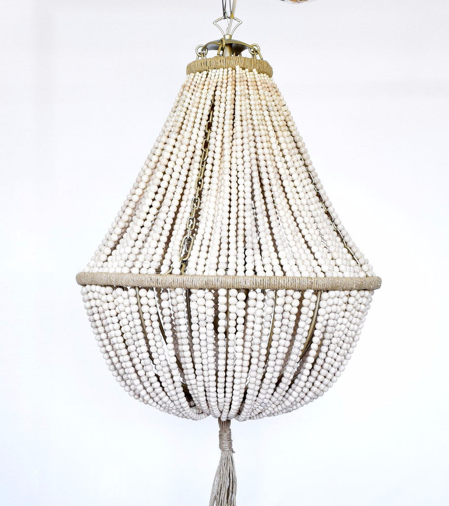 Annabella White Turquoise Empire Chandelier - Au Courant Interiors