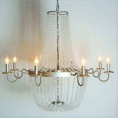 Bernadette - Smooth Crystal Empire Chandelier - Au Courant Interiors