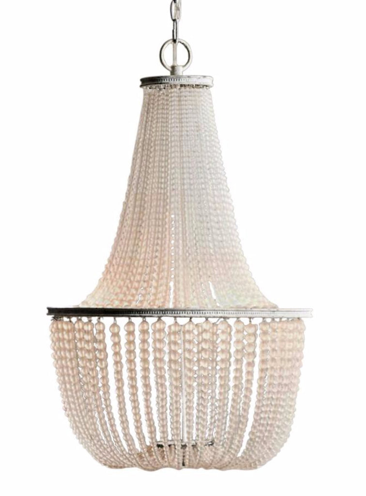 Gabrielle - Frosted Glass Beaded  Empire Chandelier - Au Courant Interiors