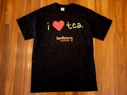 I Love Tea Hackberry Tee Shirt (Black)