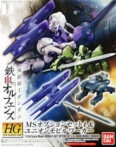 X0576 1/144 HG IBO Mobile Suit Option Set 4 & Union Mobile Worker