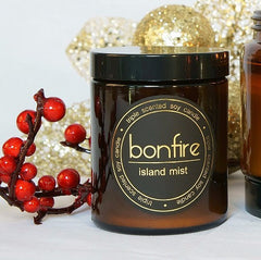 Bonfire Candle Co Island Mist 150g Soy Christmas Candle