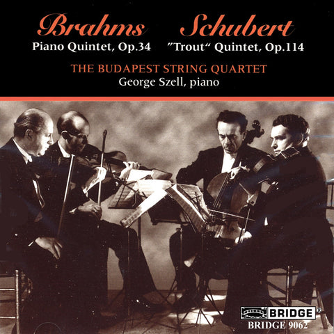 The Budapest String Quartet and George Szell <br> Great Performances, Vol. 1 <BR> BRIDGE 9062