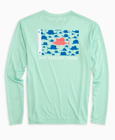 Southern Tide - Sailfish Fish Flag L/S Perf Tee