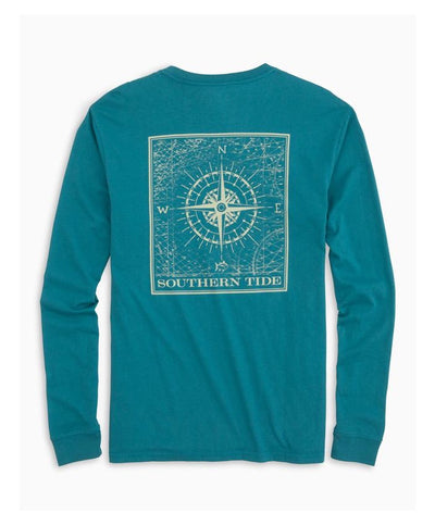 Southern Tide - Southern Compass Long Sleeve Tee