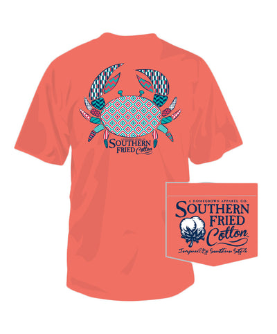 Southern Fried Cotton - Pattern Crab Pocket Tee