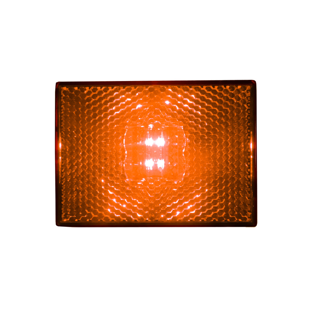 Square LED Stud Mount Clearance / Marker Light Amber