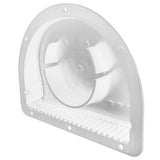 "Vent, Exterior Half Moon for 3"" Diameter Hole - White"