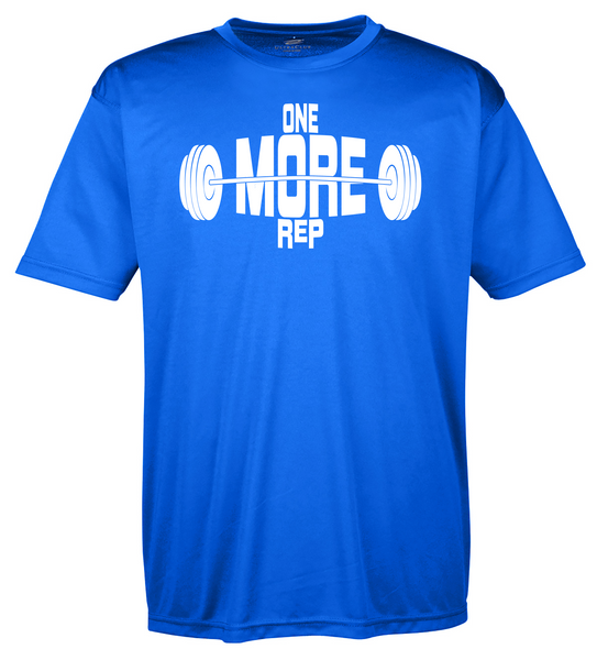 "Men's Moisture Wicking ""One More Rep"" Fitness Tee"