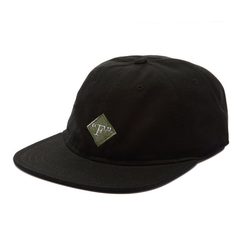 Format Fields Unstructured Strapback Hat - Black
