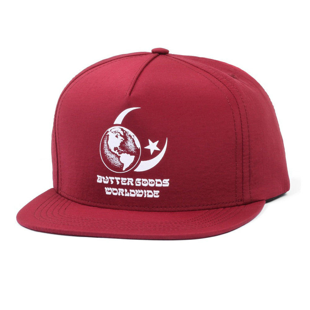 Butter Goods Crescent Snapback Cap - Burgundy