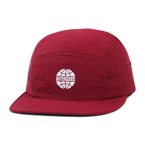 Butter Minimal Worldwide Camp Cap - Burgundy