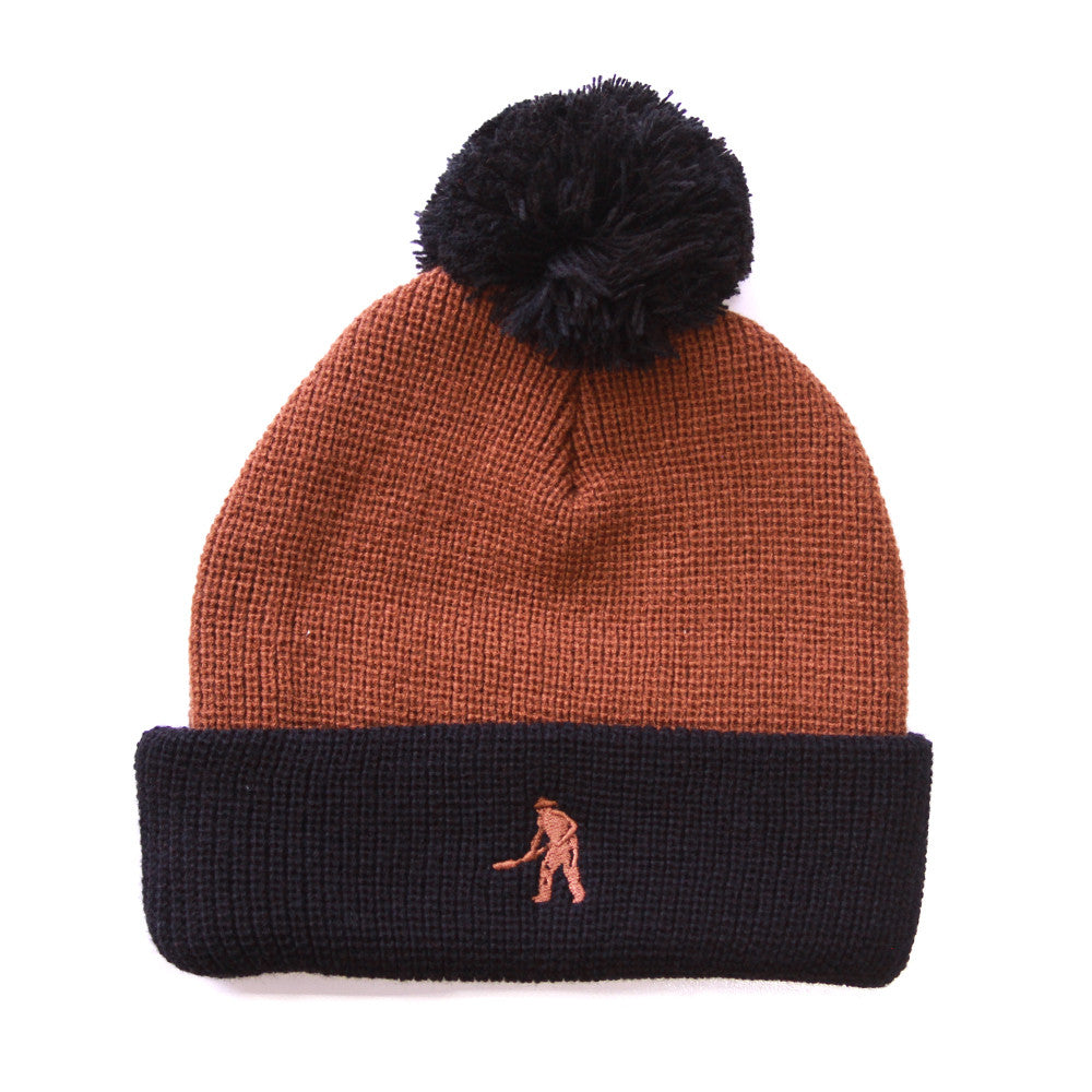 Passport Workers PomPom Beanie - Choc