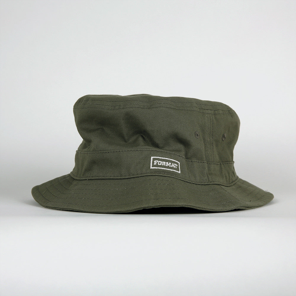 "Format Skateboards ""Buck It"" Bucket Hat - Surplus Green"