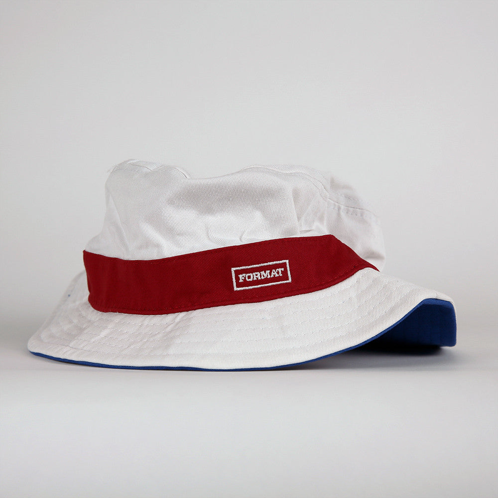 "Format ""Buck It"" Bucket Hat - White"