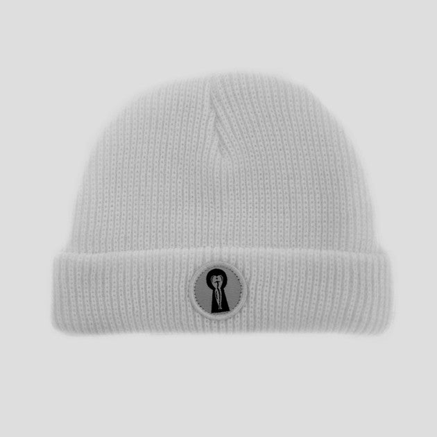 Passport Keyhole Beanie - White