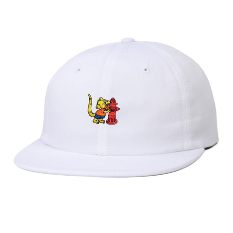Butter Goods Ratboy 6 Panel Hat - White