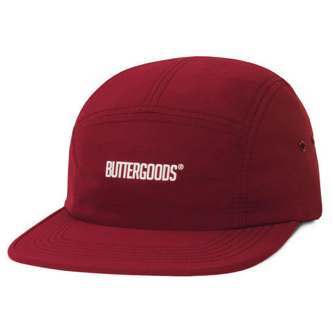 Butter Goods Registered 5 Panel Hat - Burgundy