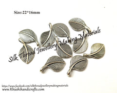 Metal leaf pendant charm Jewellery making