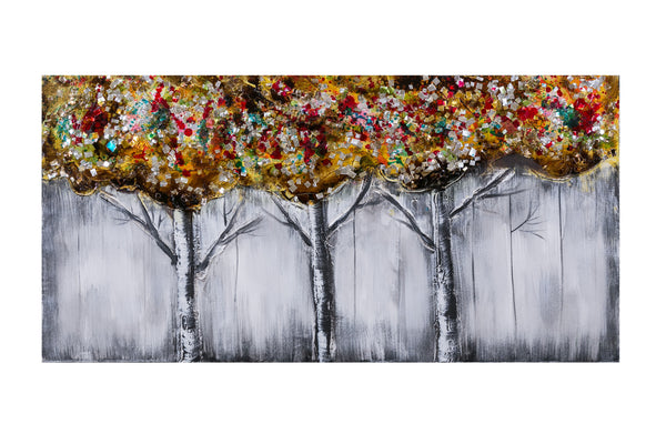 "Artistique - 24"" x 48"" Three Trees - Casa Febus - Home • Design"