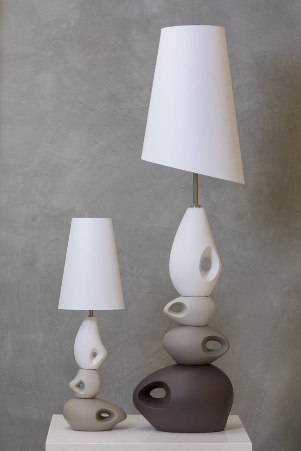 "33"" Nouveau Table Lamp - Earth Tones"
