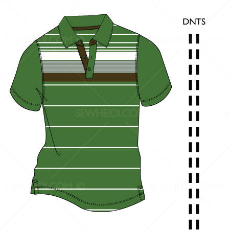 {Illustrator Stuff} Sew Heidi Men's Polo Varieties