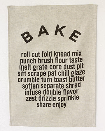 Bake Tea Towel in Oatmeal