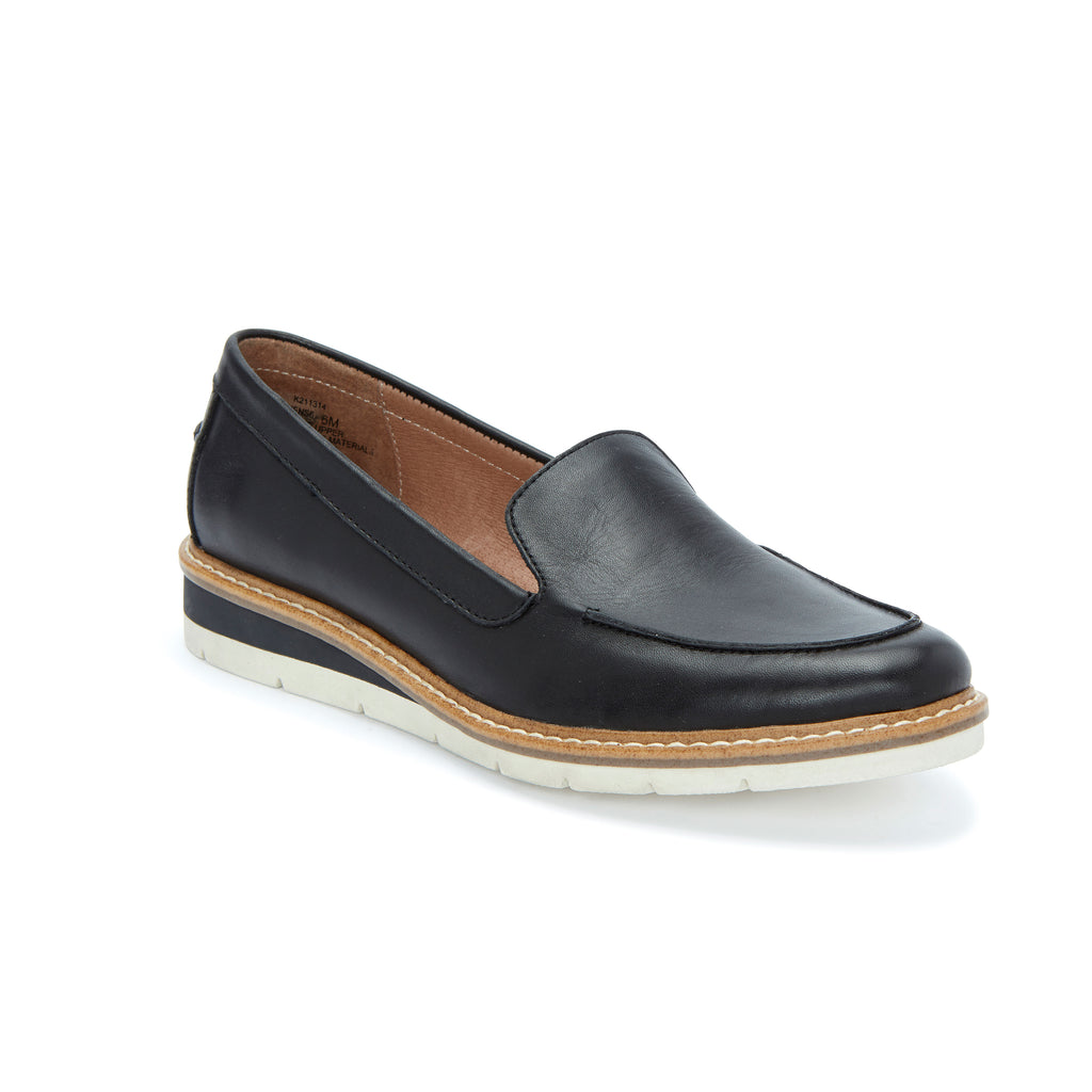 Athens Black Leather -  Loafer - Adam Tucker