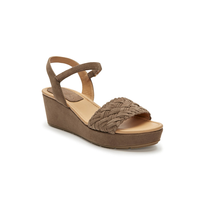 Abella Delicate Brown Suede -  SANDAL - ...me Too