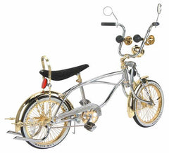 "16"" Lowrider Bike Gold-Chrome 527-3."