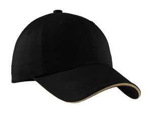Top Headwear Sandwich Bill Cap w/ Striped Closure