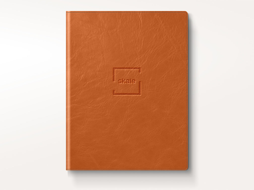 Chelsea Italian Leather Padfolio - Tan