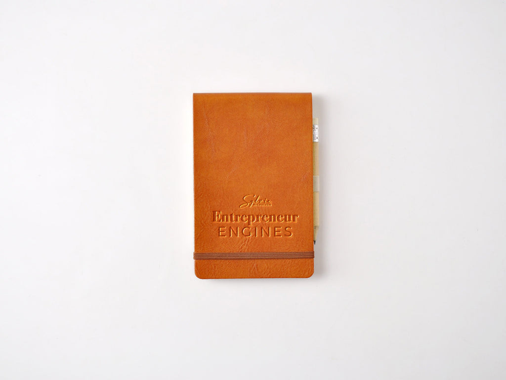 Chelsea Italian Leather Reporter Notebook - Tan