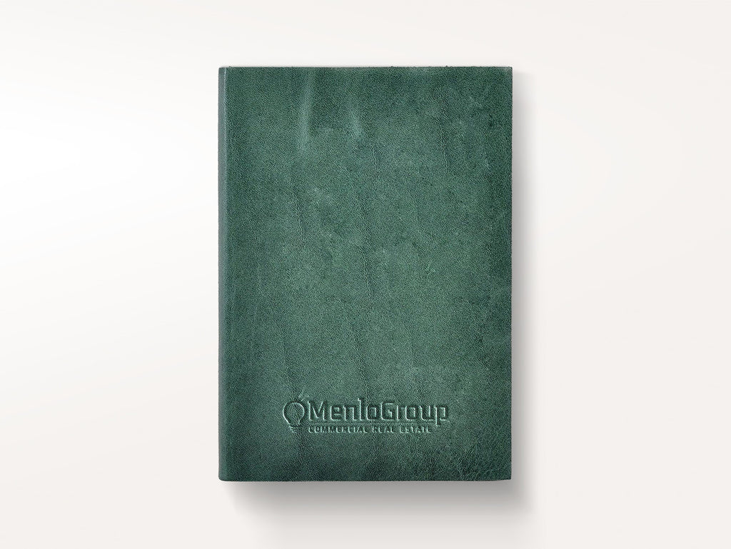 Harborview Leather Journal - Spruce-Notebooks-JB Custom Journals