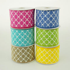 Quatrefoil Spade Canvas Ribbon, 2-1/2-Inch, 10 Yards